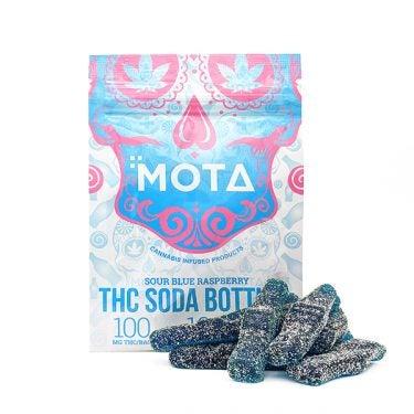 Mota - Blue Raspberry Soda Bottles