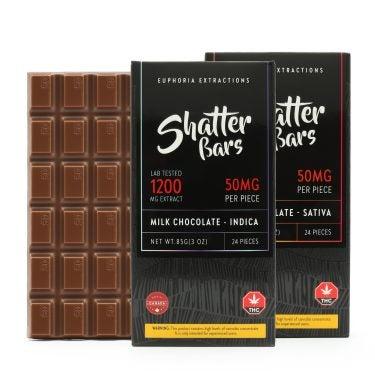 Euphoria Extractions 1200mg Chocolate Bar Group