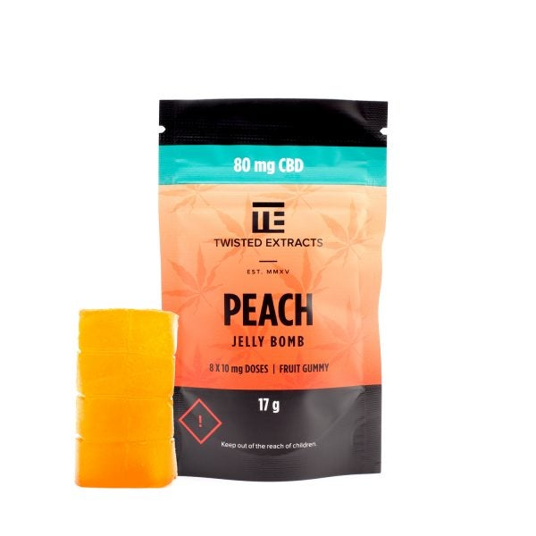 Twisted Extracts CBD Jelly Bomb Peach