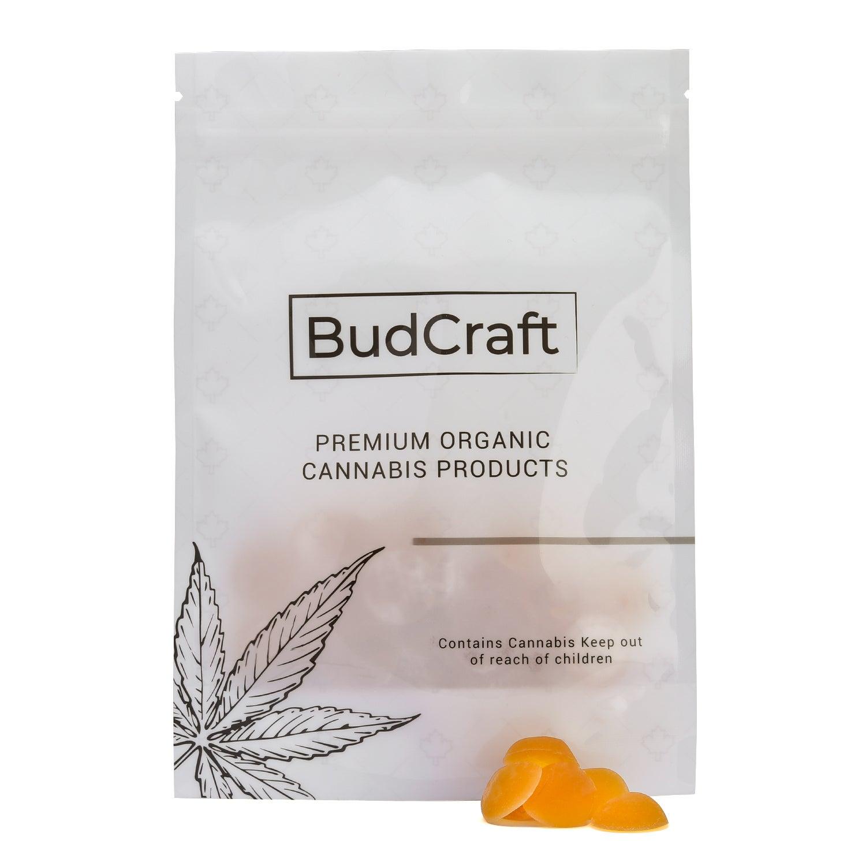BudCraft-5mg THC Microdose Vegan Gummies-Orange Peach (1)