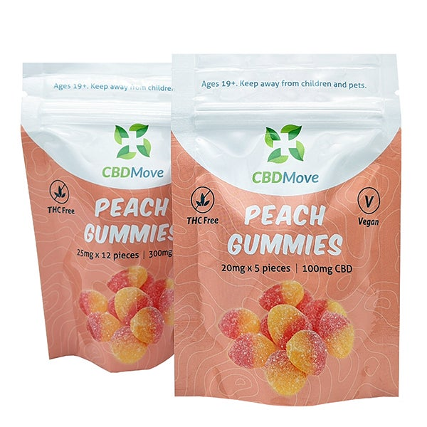 CBD Move Peach Gummies