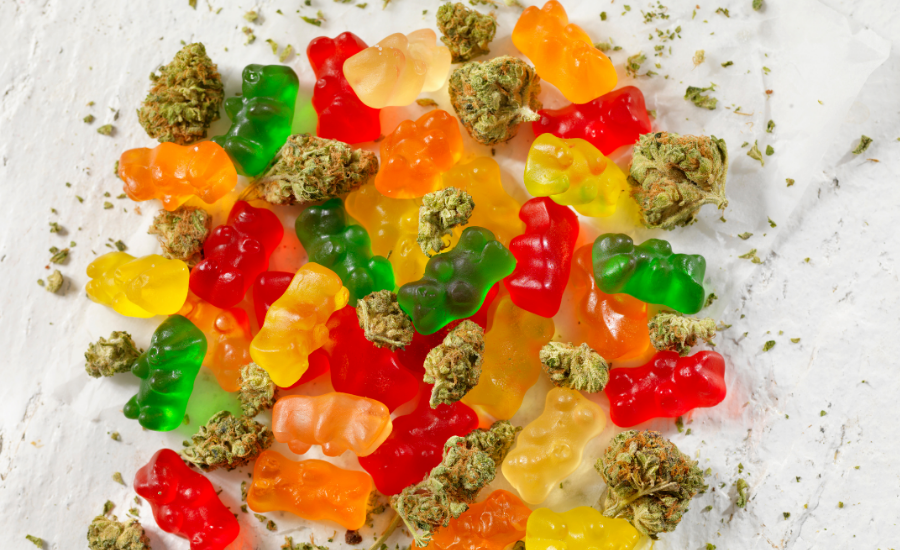 This image features one of the keto edibles - sour keto gummies