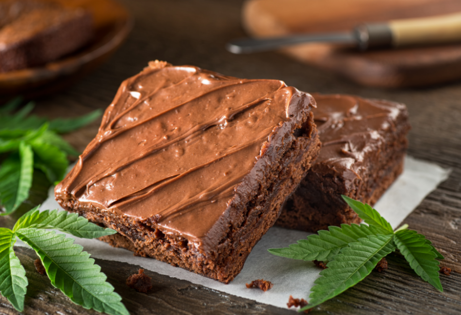 This image features one of the keto edibles - keto pot brownies